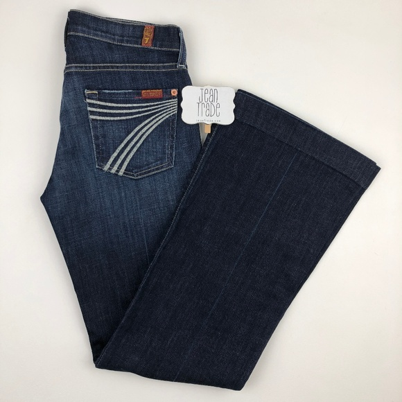 7 for all Mankind Denim - 7 for all mankind dojo flare leg jean 26x30.5